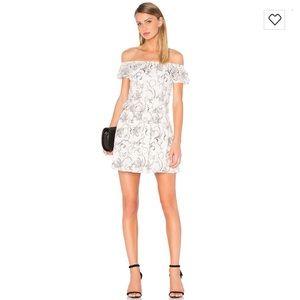 Alice + Olivia Janell Lace Off-the-Shoulder Dress